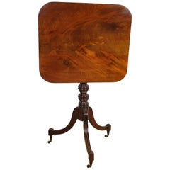 Antique Georgian Gillows Tripod/ Occasional Table