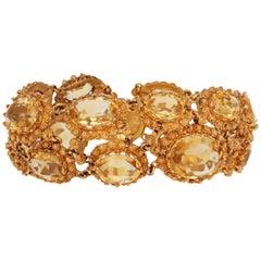 Antique Georgian Gold and Citrine Bracelet