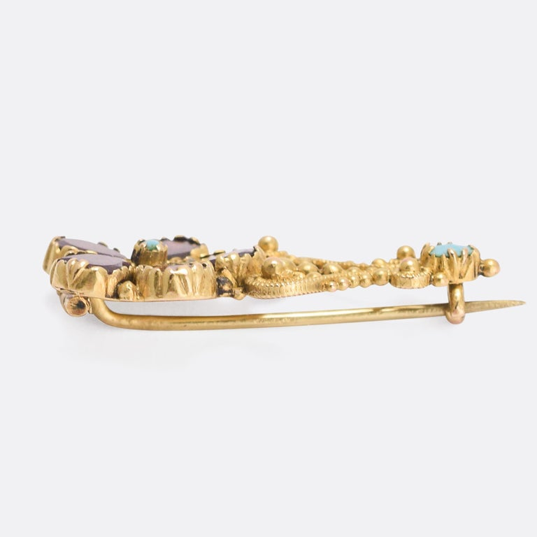 Antique Georgian Halley's Comet Brooch In Good Condition In Sale, Cheshire