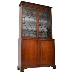 Antique Georgian III Mahogany Library Bookcase