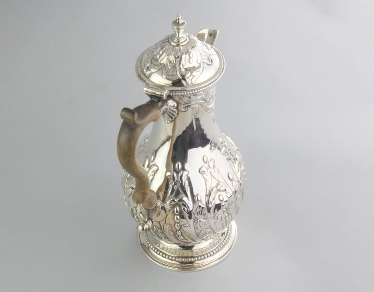 George III Antique Georgian III Sterling Silver Tea Pot, London 1816, Charles Wright For Sale