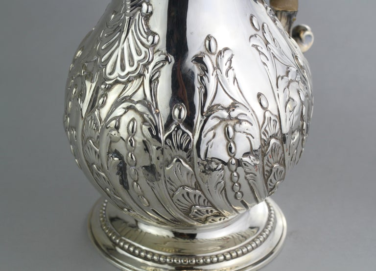 Antique Georgian III Sterling Silver Tea Pot, London 1816, Charles Wright For Sale 1