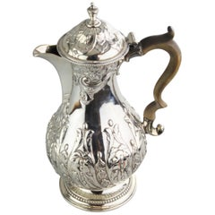Antique Georgian III Sterling Silver Tea Pot, London 1816, Charles Wright