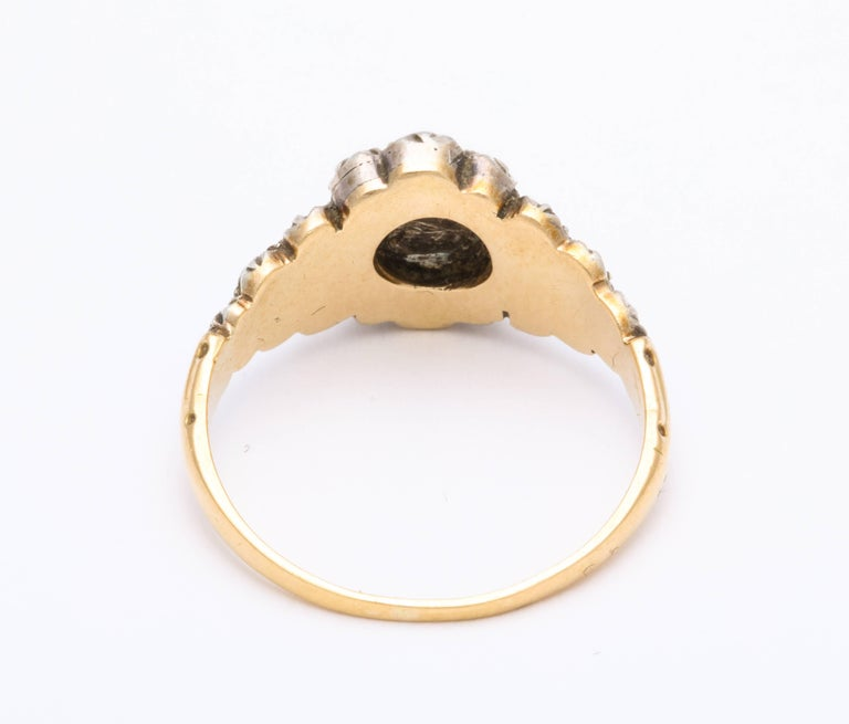 Women's Antique Georgian Ladies Diamond Cluster Ring For Sale