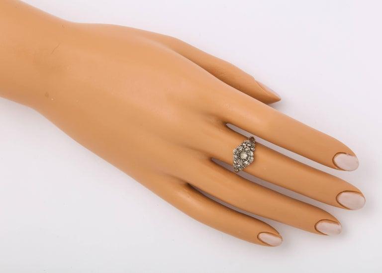 Antique Georgian Ladies Diamond Cluster Ring For Sale 1