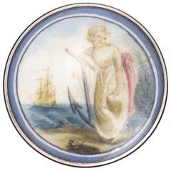 Antique Georgian Lady Hope Silver Patch Box