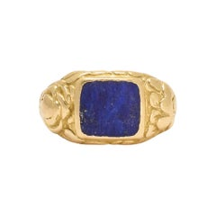Antique Georgian Lapis Lazuli Signet Ring