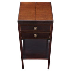 Antique Georgian Mahogany Bedside Table Washstand, circa 1810