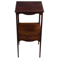 Antique Georgian Mahogany Bedside Table Washstand