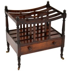 Antique Georgian Mahogany Canterbury