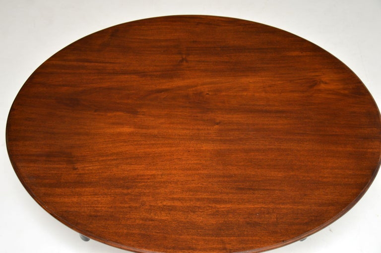 English Antique Georgian Mahogany Tilt Top Dining Table