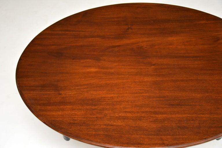 Antique Georgian Mahogany Tilt Top Dining Table 4