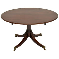 Antique Georgian Mahogany Tilt Top Dining Table