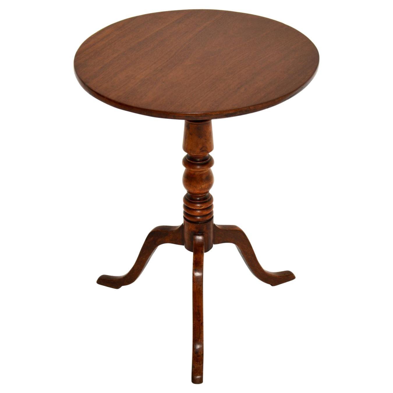 Antique Georgian Mahogany Tilt Top Tripod Table