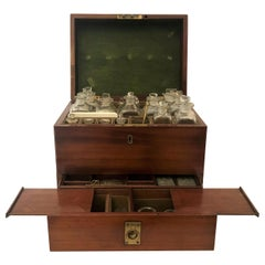 Antique Georgian Mahogany Well-Fitted Apothecary Cabinet, circa 1830