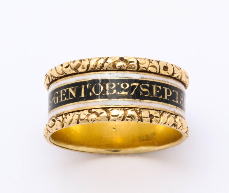 George III Antique Georgian Memorial Ring for a General For Sale