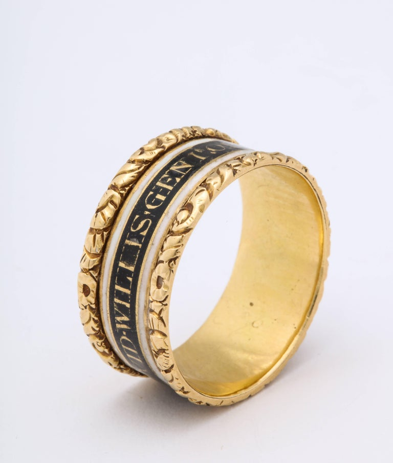 Women's or Men's Antique Georgian Memorial Ring for a General For Sale