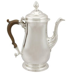 Antique Georgian Newcastle Sterling Silver Coffee Pot