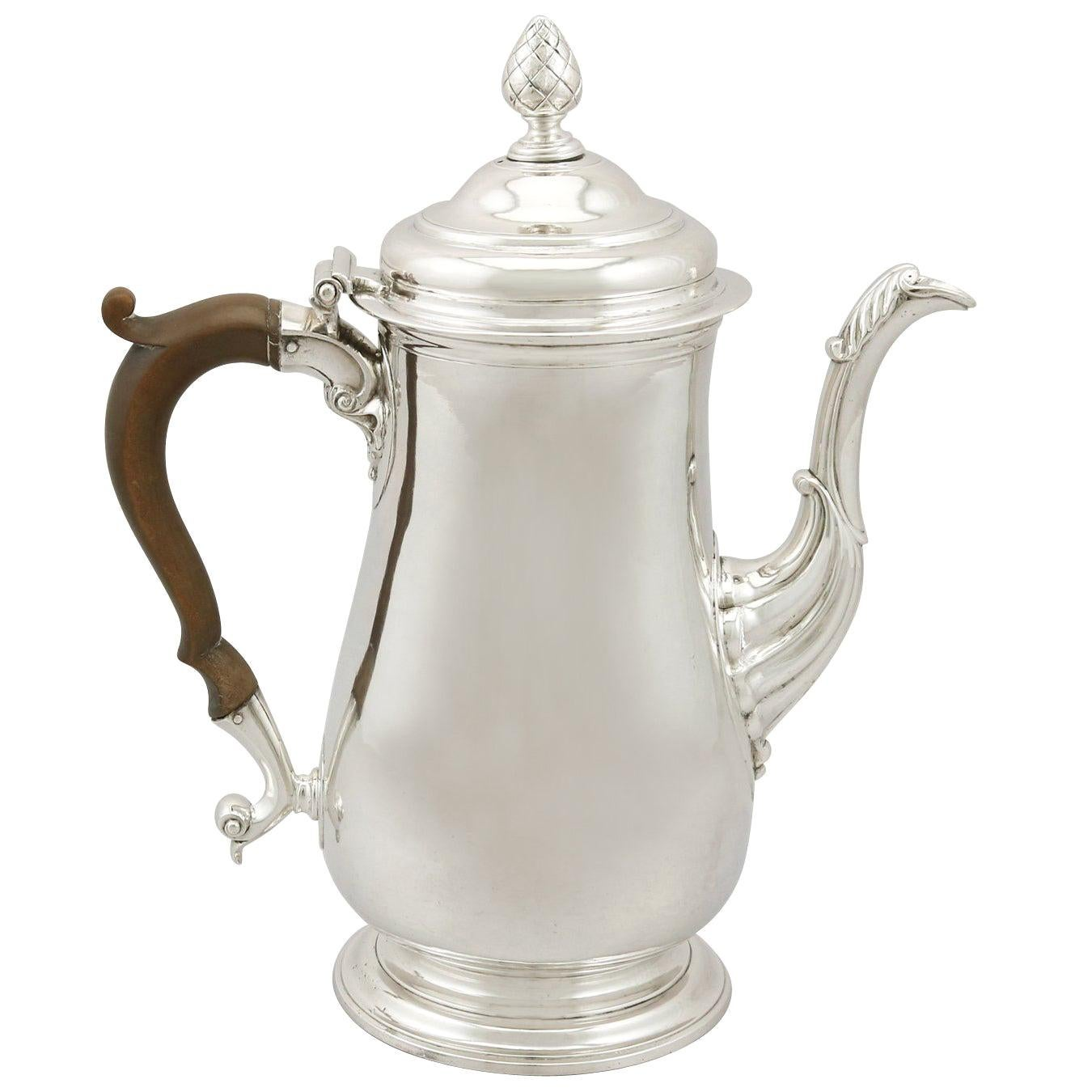 Antique Georgian Newcastle Sterling Silver Coffee Pot