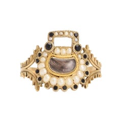 Antique Georgian Padlock Mourning Ring