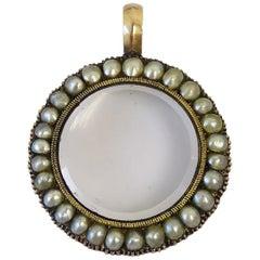 Antique Georgian Pearl Gold Locket Pendant