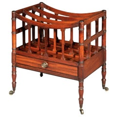 Antique Georgian Regency Canterbury or Magazine Rack, Early 19th Century