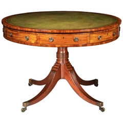 Antique Georgian Regency Drum Table or Library Table, circa 1800