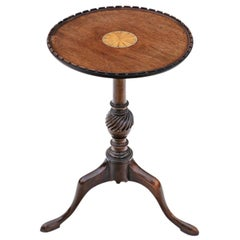 Antique Georgian Revival Inlaid Mahogany Wine Table Side, circa 1910