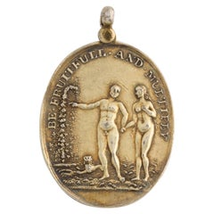 Antique Georgian Ribald Scottish Pendant of the Beggars Benison and Meryland