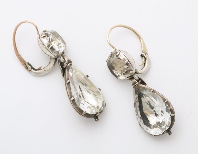 Women's Antique Georgian Rock Crystal Earrings For Sale