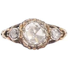 Antique Georgian Rose Diamond Three-Stone Ring