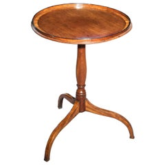 Antique Georgian Round Table or Kettle Stand, Late 18th Century