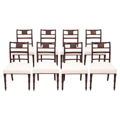 Antique Georgian Set of 8 Mahogany Dining Chairs