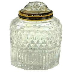Antique Georgian Silver and Cut Glass Tea Caddy, 1803