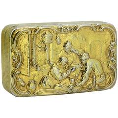 Antique Georgian Silver Tabbaco Box, London, 1815