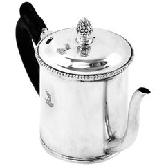 Antique Georgian Sterling Silver Argyle Gravy Jug 1772, 18th Century