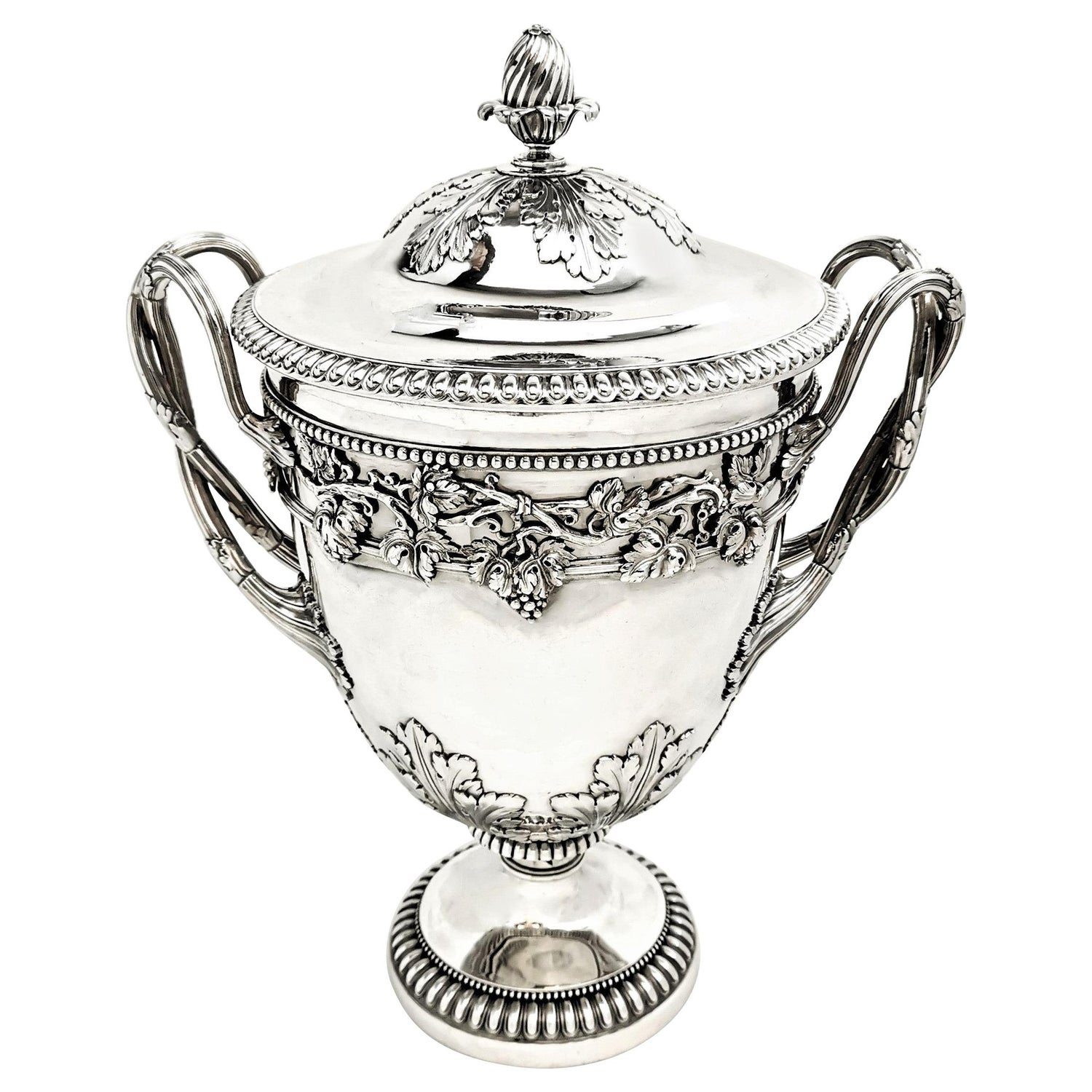 Antique Georgian Sterling Silver Cup & Cover / Lidded Trophy, 1812