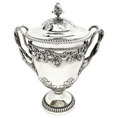 Antique Georgian Sterling Silver Cup & Cover / Lidded Trophy 1812