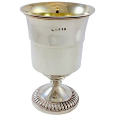 Antique Georgian Sterling Silver Goblet, Edward Barton, London, 1822