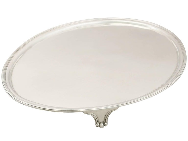 Antique Georgian Sterling Silver Salver In Excellent Condition For Sale In Jesmond, Newcastle Upon Tyne