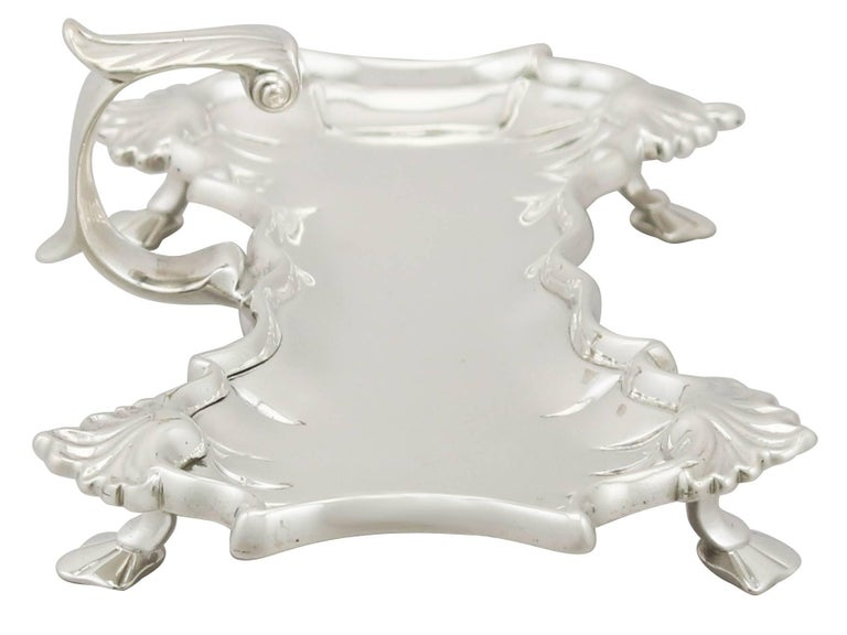 Antique Georgian Sterling Silver Snuffer Tray In Excellent Condition For Sale In Jesmond, Newcastle Upon Tyne