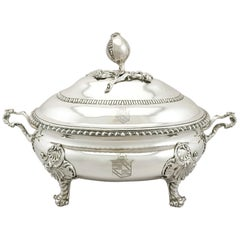 Antique Georgian Sterling Silver Soup Tureen