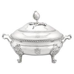 Antique Georgian Sterling Silver Soup Tureen