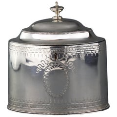 Antique Georgian Sterling Silver Tea Caddy, Hester Bateman, London, 1784