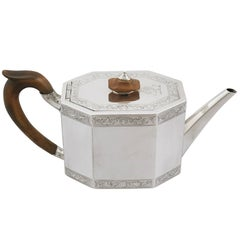 Antique Georgian Sterling Silver Teapot, 1787
