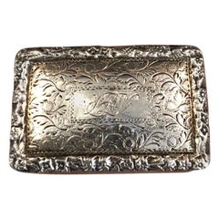 Antique Georgian Sterling Silver Vinaigrette / Vesta by Nataniel Mills