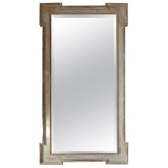 Antique Georgian Style Bleached Mahogany Mirror