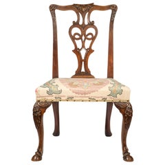 Antique Georgian Style Chair with Horse Hoof Feet