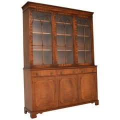 Antique Georgian Style Large Mahogany Bookcase
