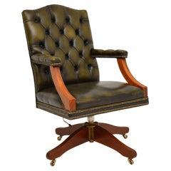 Antique Georgian Style Leather Desk Chair
